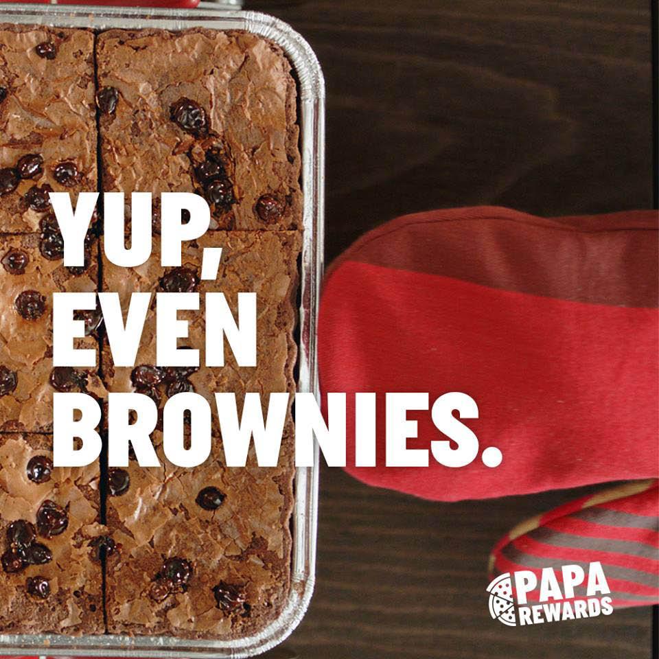 chocolate brownies papa john's pizza warwick, ri