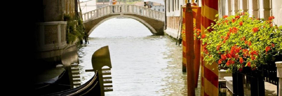 Venice Canal Old World Italy banner
