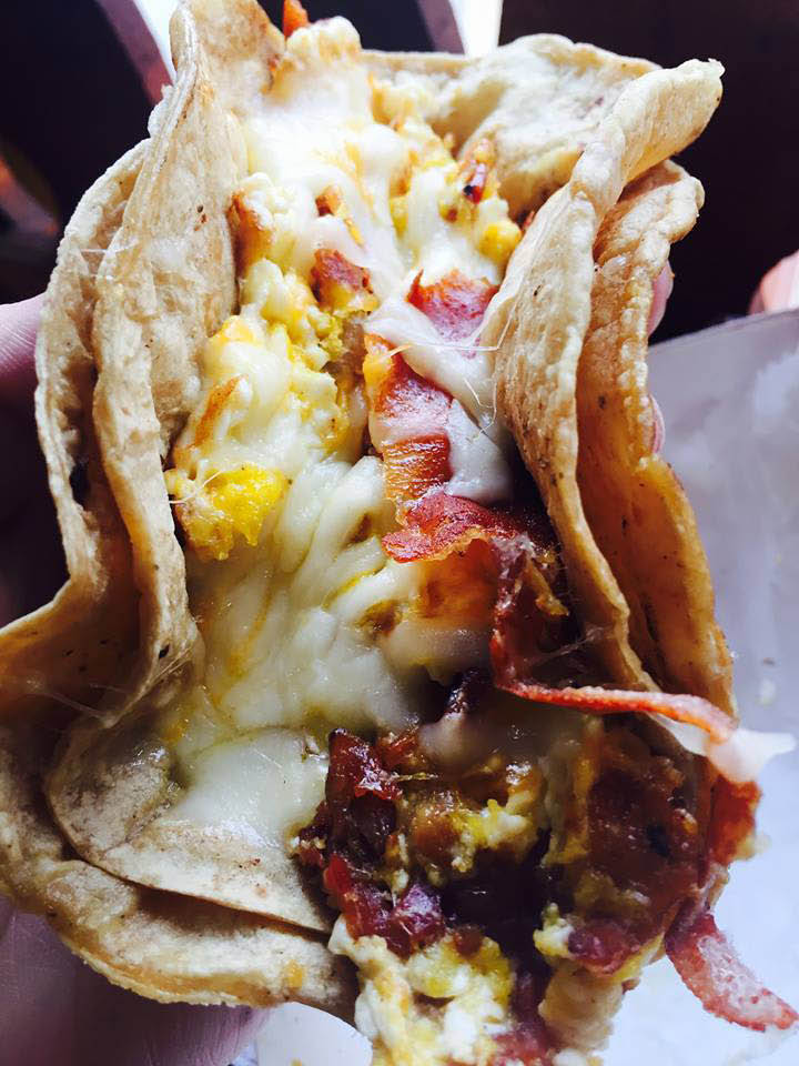 Fabulous Mexican breakfast tacos at Papi's