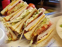 Club sandwich at Pappy's