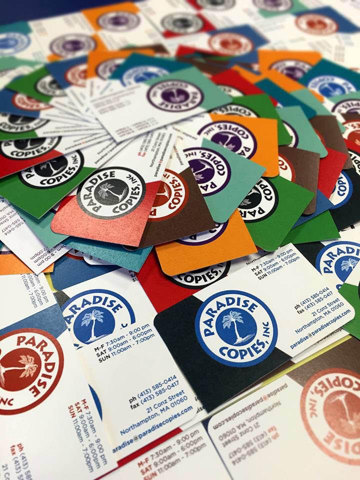 Paradise Copies Business Cards