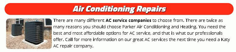 Air conditioning repairs in Katy, Texas