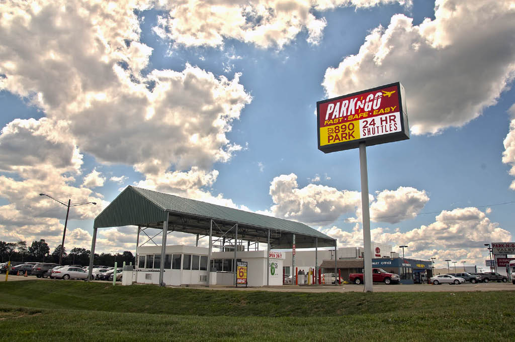 park n go economy airport parking dayton vandalia ohio facility