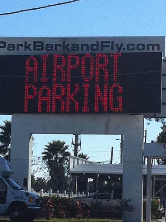 Parking garage near Orlando Airport