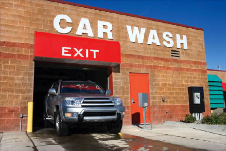 Convenient in and out car wash.