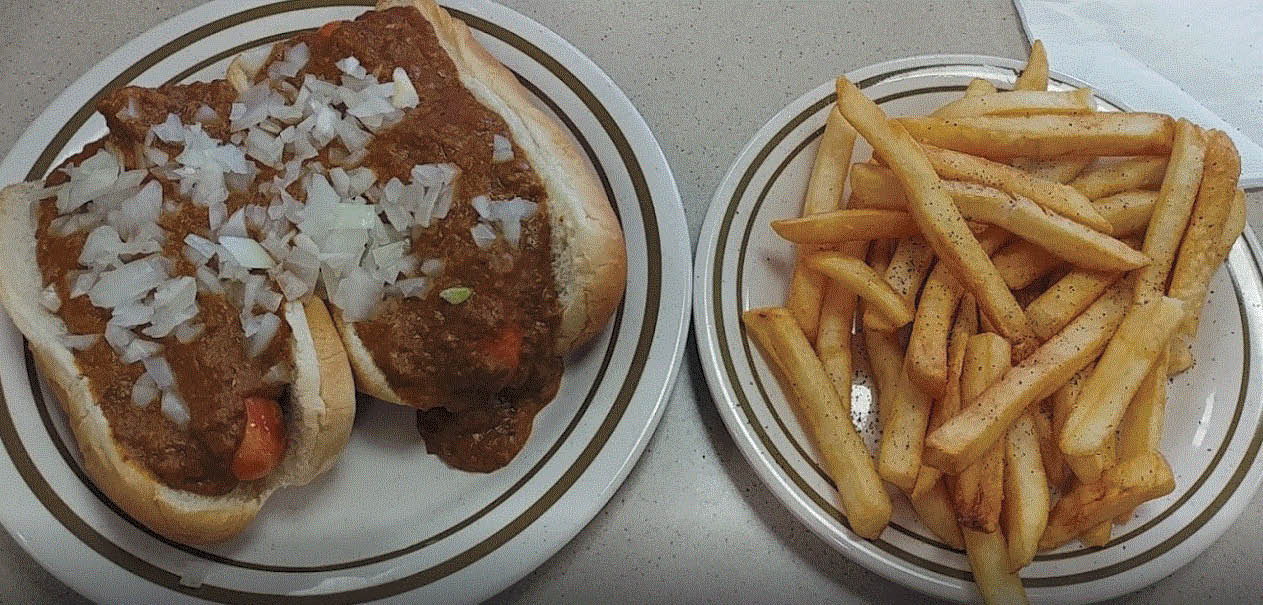 Coney and fries at Parthenon Coney Island in Canton, MI