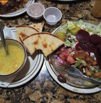 Soups and Salads at Parthenon Coney Island in Warren, MI
