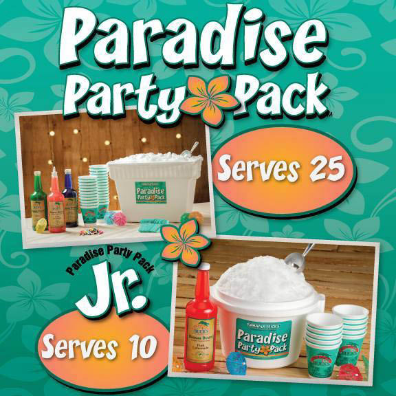 paradise party pack; fort worth, texas
