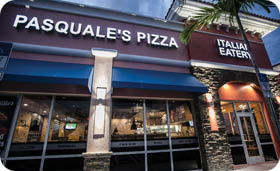 Pasquales Pizza exterior restaurant location in Wellington