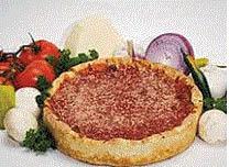 Picture of Chicago Style pizza at Passport Pizza in Commerce, MI