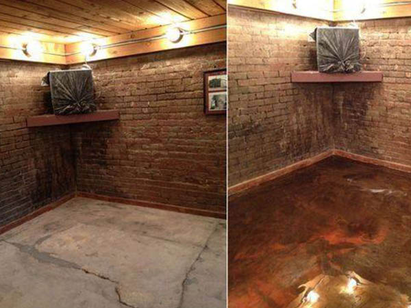 Patriot Epoxy Flooring basement