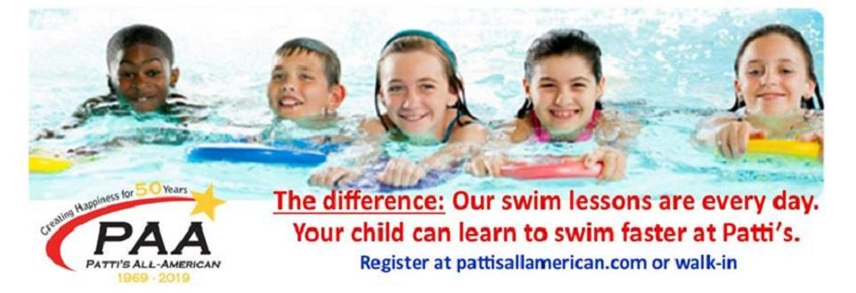 Start planning swim lessons today at Patti's All American School in Dyer, IN.