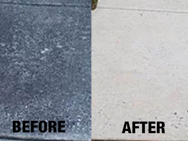 Paul's Power Wash, LLC before and after concrete