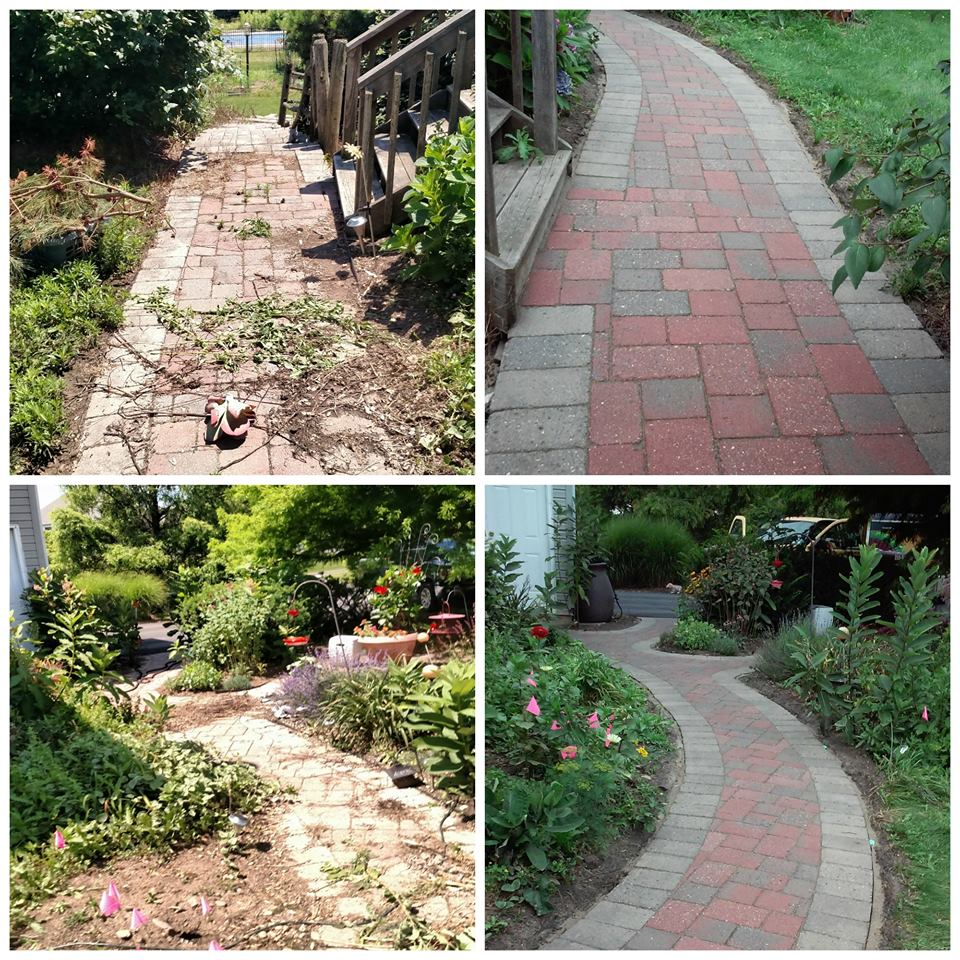 Walkways repaired and restored to original condition