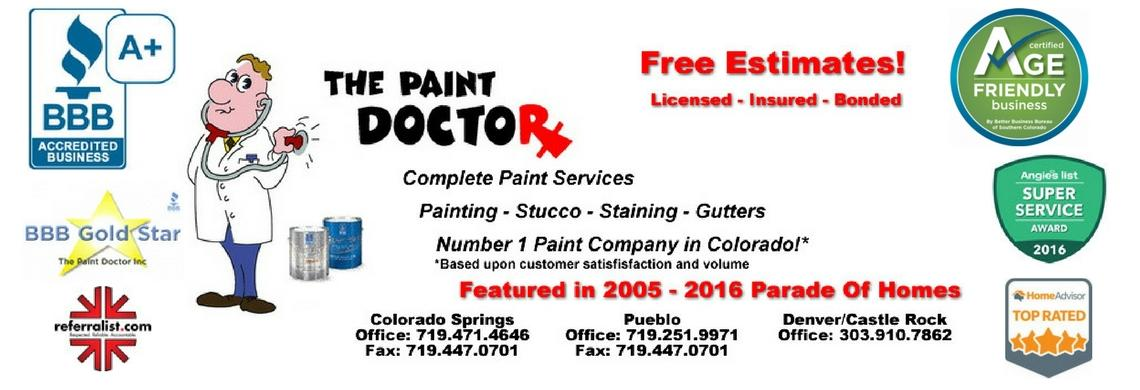 The Paint Doctor banner Colorado Springs, CO