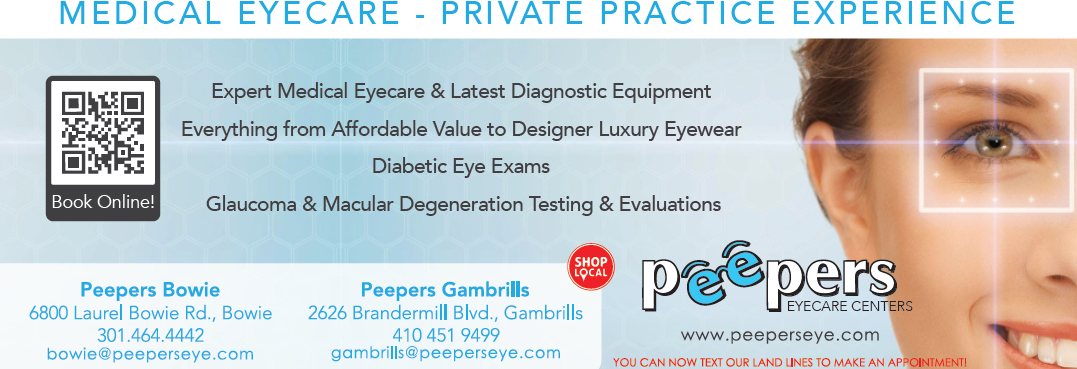 peepers eycare centers, bowie md, gambrills md