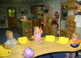 Infant table play at Penny Lane Schools.