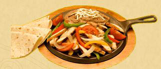 Chicken fajitas at Pepe's Restaurant.in Chicagoland and Northwest Indiana.