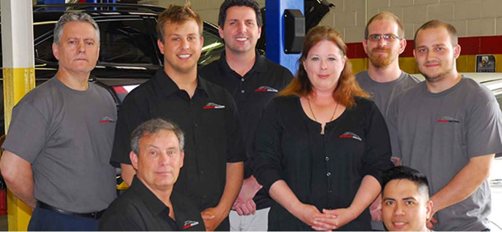 ASE certified technicians and store manager of Performance Auto Center IL