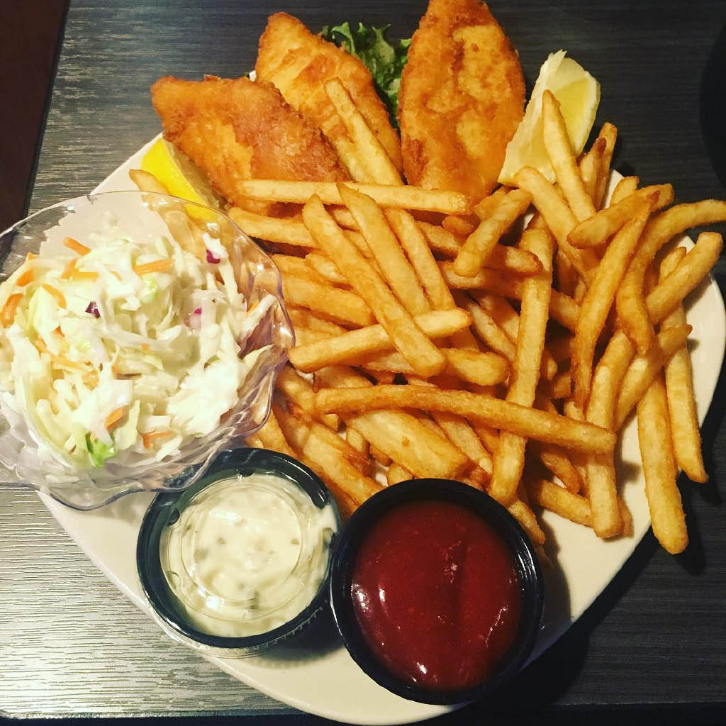 Fish and chips at Paradise Falls in Missoula, MT