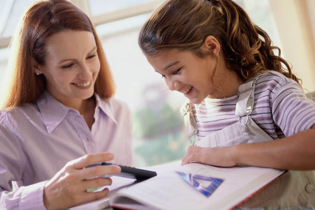 girl being tutored