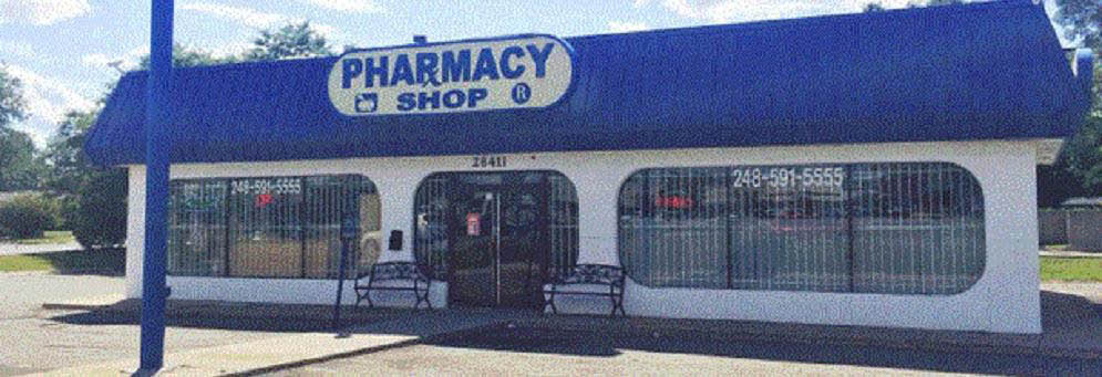 Outside of building for Pharmacy Shop in Madison Heights, MI