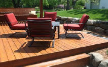 Wood deck by Philip's Fences in Waxahachie