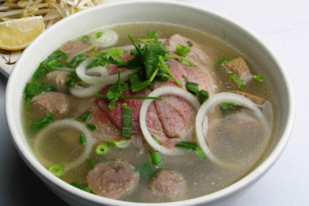 Pho cafe bowl of noodle soup