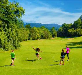 Foot Golf at Minerals Golf Club at Crystal Springs Resort in Vernon, NJ Logo