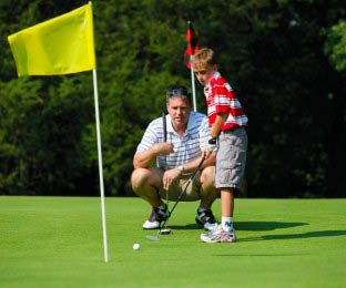 Father Son Golf at Minerals Golf Club at Crystal Springs Resort in Vernon, NJ Logo