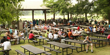 Picnic Pavilions for family meals in Memphis