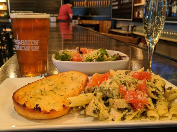 Pigskin Brewing Company entrees