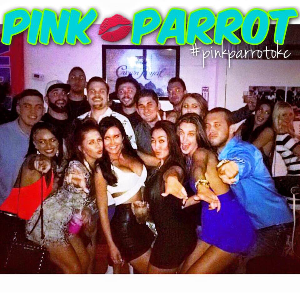 Pink Parrot party with regulars near Bethany