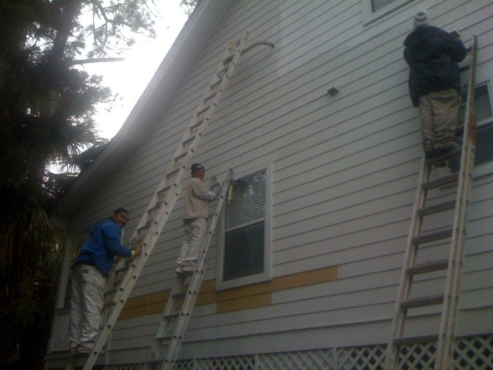 Exterior home painting by Pinnacle Painting, LLC