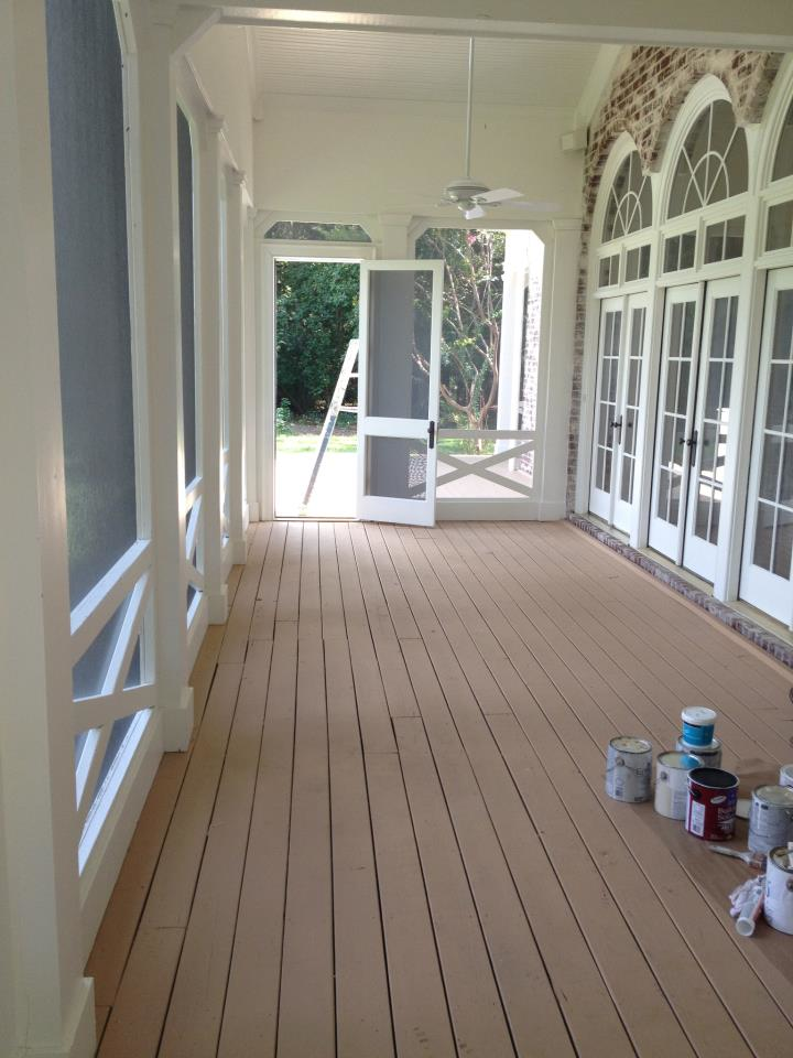 Walkway painting and staining by Pinnacle Painting