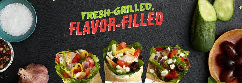 healthy fast food fresh pitas fresh salad fresh Mediterranean food