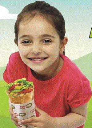 Picture of a child with child's menu item at Pita Pit in Macomb, MI