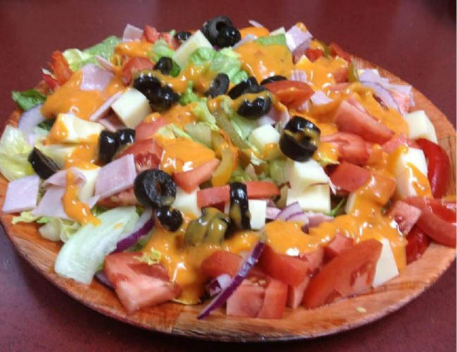 subs,boneless wings,buffalo wings,desserts,pizza,cheese pizza,subs,steaks