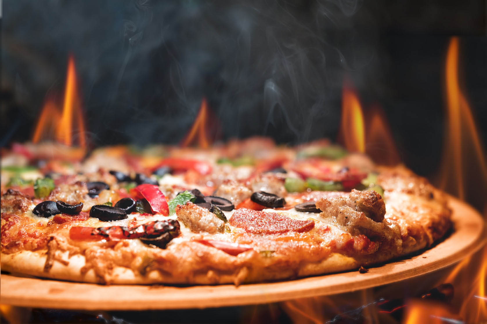 pizza at rock n fire folsom