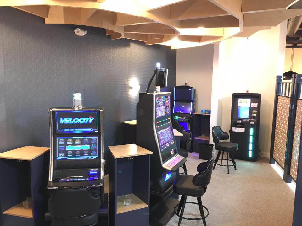 Gaming room featuring Velocity video gaming.