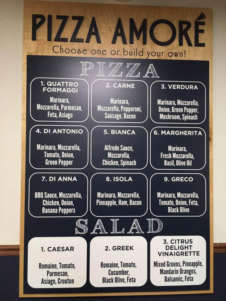 Pizza Amore of Round Lake, IL menu.