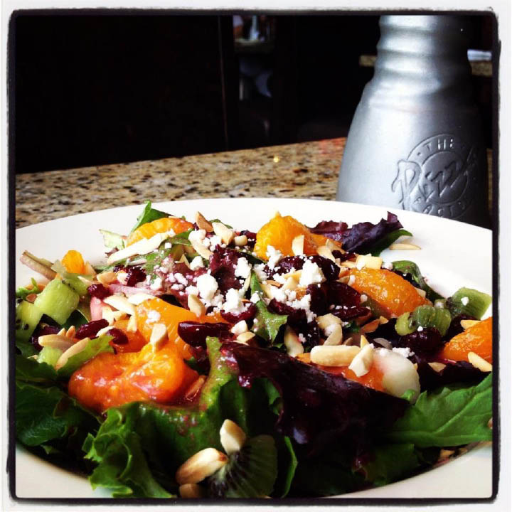 Greens salad with tomatoes and balsamic glaze, pizza factory coupons utah, pizza factory spanish fork