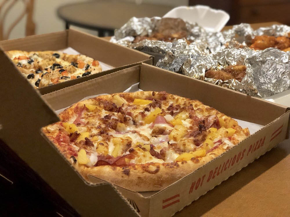 delicious pizza to go, carry-out, or eat-in! sausage, pepperoni, side yummy