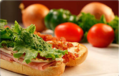 Hot and cold sandwiches and with fresh ingredients