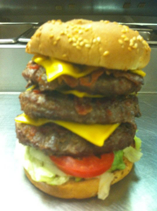 Go American with a juicy burger and French fries