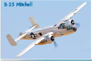 Historic airplane B-25 Mitchell as shown at museum in California