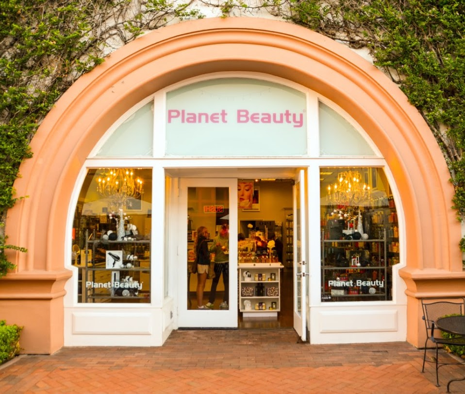 Our Planet Beauty storefront location in Santa Barbara, CA Moroccan Oil Nuface makeup cosmetics Peter Thomas Roth