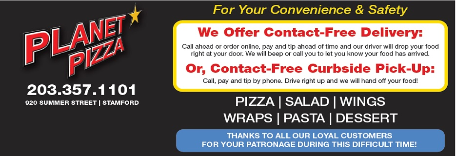 Planet Pizza stamford ct banner image