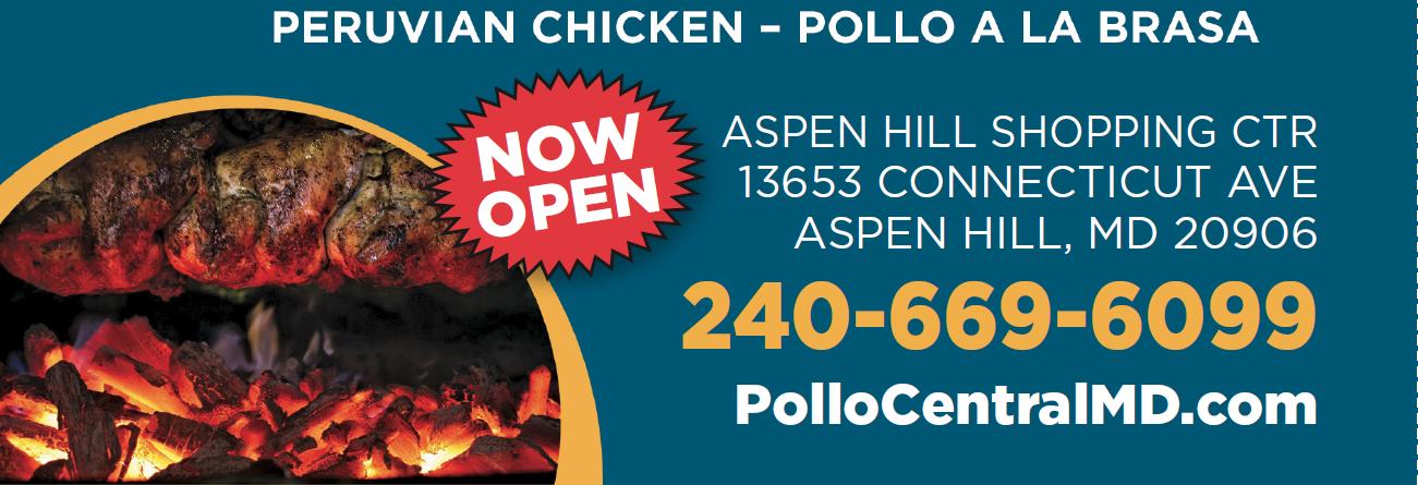 pollo central peruvian chicken, pollo a la brasa, aspen hill md