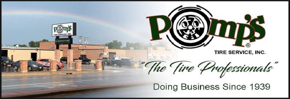 Pomp's Tire banner Green Bay, Appleton & Oshkosh, WI